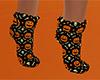 Pumpkin Skull Socks (F)