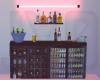 Black Neon Red Mini Bar
