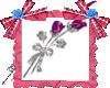 Botones de rosas animado