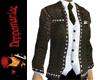 Leather Stud Jacket Plus