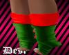D! red/green socks