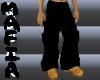 Solid Black Baggy Pants