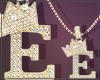 Gold Chain E Letter Fem