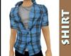 Blue Plaid Shirt {b}