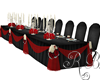 Head Table Red Black