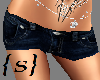 {s} Dark jean shorts