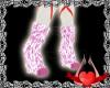 Pink/White legwarmers F