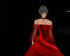 red silk ballgown