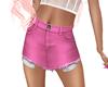 cut off shorts ~ pink