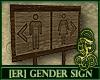 [ER] Wood Gender Sign