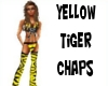 yellow tiger chaps