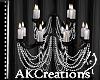(AK)Pinstripe chandelier