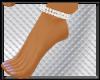 silver anklet L