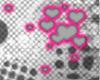 Pink| grey hearts