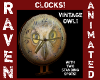 VINTAGE OWL CLOCK!