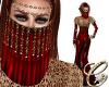 Sadiyaah Veil Red
