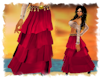 ! Pirate wench red skirt