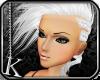 [K] White Eiko Hair