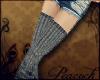 -P- Gray Wool Stockings!