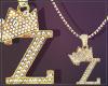 Gold Chain Z Letter Fem