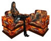 Harley Flame Eagle Chair