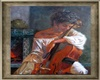 Cello Player Painting