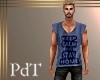 PdT Keep Calm Blu Tee M