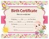 Luna;s Birth Certificate