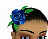 Blue Rose Hair Clip