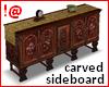 !@ Carved sideboard