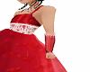 red flower girl gloves