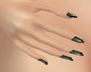 818 Olive & Black Nails