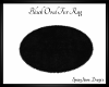 Black Oval NP Fur Rug