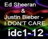 Ed Sheeran,Justin Bieber