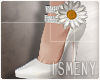 [Is] Flower Heels White