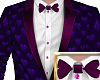 Valentine tuxedo purple