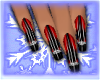 {E}Red Galore Nails