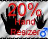 *M* Hand Scaler 20%