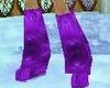 purple mink boots