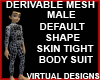 Male SkinTight Body Mesh