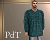 PdT Teal Ribknit Sweater