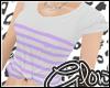 #Stripe Tee - Lilac#