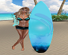 Surfboard with Poses