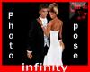 infinity wedding pose