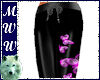 Blk/Pink Bfly PJ Bottoms