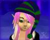 Elf Hat, Knit PurpGreen