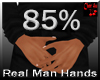 real man small hands 85%