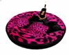 Pink Cheetah Round Couch