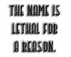 [LS] Lethal. black.