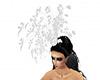 White wedding headdress
